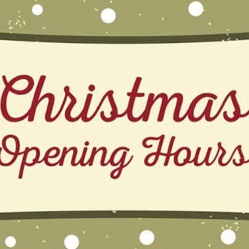xmas-opening hours